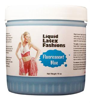 Fluorescent Blue Liquid Latex Body Paint