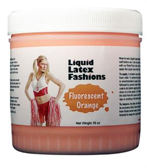 Fluorescent Orange Liquid Latex Body Paint - 32 oz