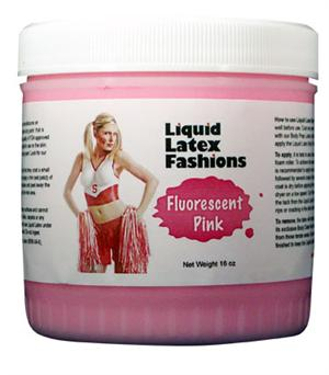 Fluorescent Pink Liquid Latex Body Paint