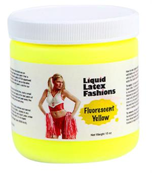 Fluorescent Yellow Liquid Latex Body Paint - 16oz