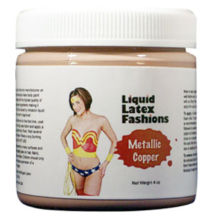 Metallic Copper Liquid Latex Body Paint -  1 Gallon
