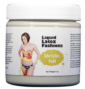 Metallic Gold Liquid Latex Body Paint -  32oz