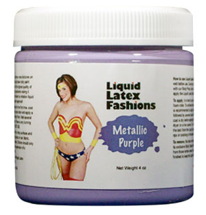 Metallic Purple Liquid Latex Body Paint - 4 oz