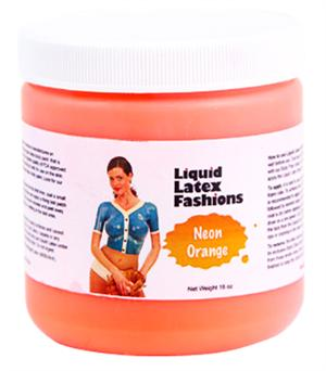 Neon Orange Liquid Latex Body Paint - 16oz