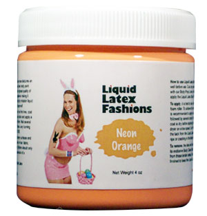 Neon Orange Liquid Latex Body Paint - 32 oz