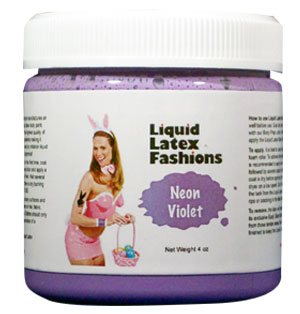 Neon Violet Liquid Latex Body Paint - 8 oz