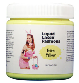 Neon Yellow Liquid Latex Body Paint - 4 oz