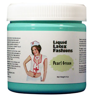 Pearl Green Liquid Latex Body Paint - 4 oz