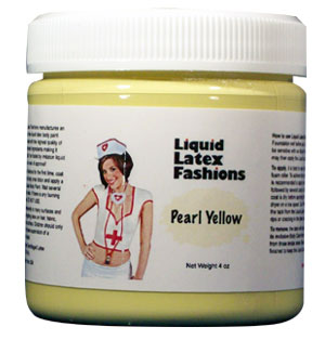 Pearl Yellow Liquid Latex Body Paint - 8 oz