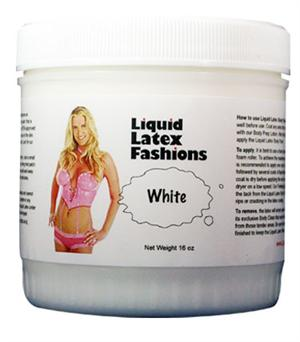 White Liquid Latex Body Paint -  1 gallon
