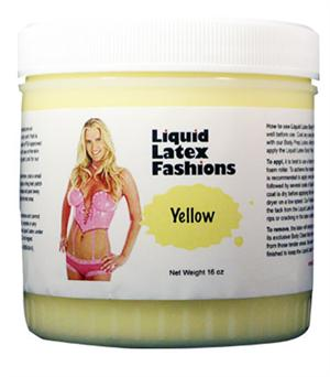 Yellow Liquid Latex Body Paint - 16oz