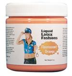 Fluorescent Orange Liquid Latex Body Paint - 4 oz