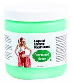 Fluorescent Green Liquid Latex Body Paint - 16oz