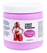 Fluorescent Violet Liquid Latex Body Paint - 16oz