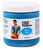 Neon Blue Liquid Latex Body Paint - 16 oz