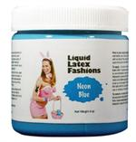 Neon Blue Liquid Latex Body Paint - 4 oz