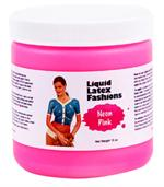 Neon Pink Liquid Latex Body Paint - 16oz