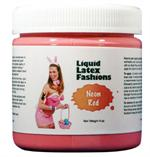 Neon Red Liquid Latex Body Paint - 4 oz