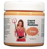 Orange Liquid Latex Body Paint - 8 oz