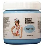 Pearl Blue Liquid Latex Body Paint - 8 oz