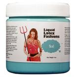 Teal Liquid Latex Body Paint -  1 gallon