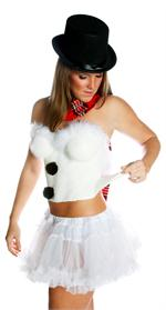 Liquid Latex Sexy Snowman Costume Peels Right Off!
